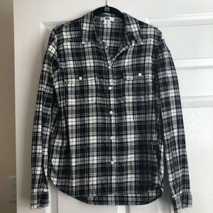 Paige black and white flannel